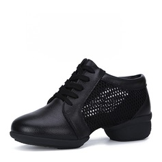 Women's Microfiber Leather Sneakers Sneakers Practice Dance Shoes