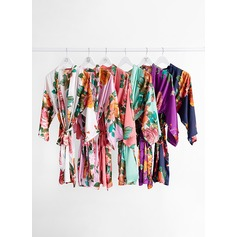 Charmeuse Bride Bridesmaid Floral Robes (248184719)