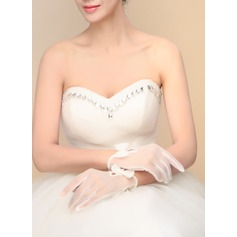 Tulle Wrist Length Bridal Gloves (014090791)