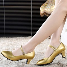 Women's Pumps Modern Jazz Ballroom Salsa Party Tango With Ankle Strap Dance Shoes