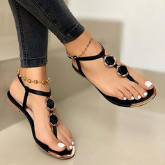 Women's PU Flat Heel Sandals shoes (087236328)