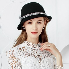 Ladies' Elegant/Unique Wool With Bowknot Bowler/Cloche Hat