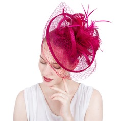 Ladies' Gorgeous/Fashion/Glamourous Cambric With Feather/Tulle Fascinators/Kentucky Derby Hats