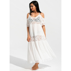 Sexy Bohemian Solid Color Polyester Cover-ups