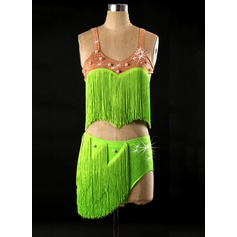 Women's Dancewear Spandex Latin Dance Outfits (115086066)
