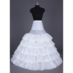 Women Nylon Floor-length 5 Tiers