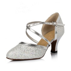 Women's Sparkling Glitter Heels Pumps Ballroom Dance Shoes (053064670)