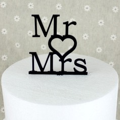 Letter Mr. & Mrs. Acrylic Wedding Cake Topper/Bridal Shower Cake Topper