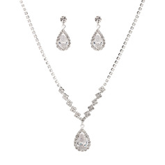 Ladies' Shining Alloy/Rhinestones Jewelry Sets