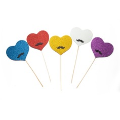 Heart Design Sponge Photo Booth Props