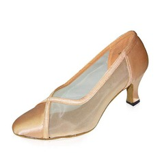 Women's Satin Pumps Modern Dance Shoes