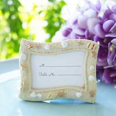 Lovely Ocean Breeze Seashell Resin Place Card Holders