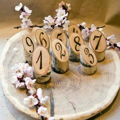 Rustic Wooden Table Number Plate (Set of 20)