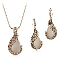 Beautiful Alloy With Cat's Eye Girls' Jewelry Sets