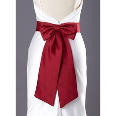 Simple Satin Sash With Bow (015003795)