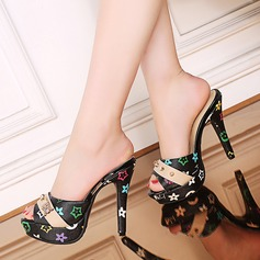 Women's PU Stiletto Heel Sandals Pumps Platform Peep Toe With Others shoes (085142780)