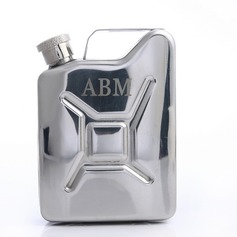 Personalized With-a-Handle Stainless Steel Flask