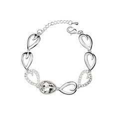 Beautiful Alloy/Platinum Plated With Crystal Ladies' Bracelets