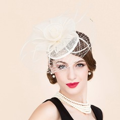 Dames Heerlijk Tule met Feather Fascinators