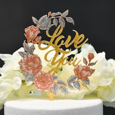 Sweet Love/Flower Acrylic Cake Topper (Sold in a single piece)