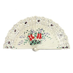 Butterfly Theme Sandalwood Hand fan