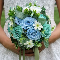 Gorgeous Hand-tied Cloth/Ribbon Bridal Bouquets