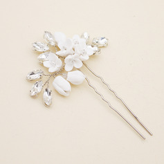Ladies Simple Alloy/Polymer Clay Hairpins With Rhinestone