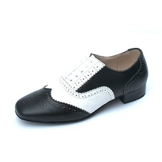 Men's Real Leather Flats Ballroom Dance Shoes