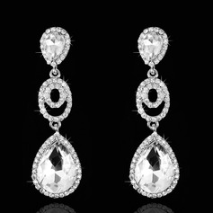 Elegant Rhinestones Ladies' Earrings