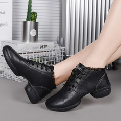 Women's Leatherette Lace Sneakers Sneakers Dance Shoes