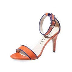 Women's Leatherette Stiletto Heel Sandals With Buckle shoes