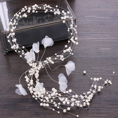Ladies Elegant Rhinestone/Alloy/Imitation Pearls Headbands With Rhinestone/Venetian Pearl (Sold in single piece)