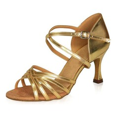 Women's Patent Leather Heels Sandals Latin Ballroom Dance Shoes