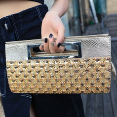 Refined Crystal/ Rhinestone Clutches/Top Handle