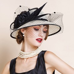 Damene ' Fin/Romantisk/vintage stil/Kunstnerisk Cambric med Tyll Fascinators/Kentucky Derby Hatter/Tea Party Hats