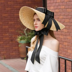 Ladies' Special/Elegant Rattan Straw Straw Hats/Beach/Sun Hats/Kentucky Derby Hats