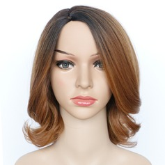 Curly Mid-Length Synthetic Wigs African American Wigs