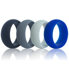 Fashional Silicone Men's Fashion Rings (Set of 3)