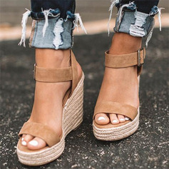 Suede Wedge Heel Sandals Wedges With Others shoes (087236286)