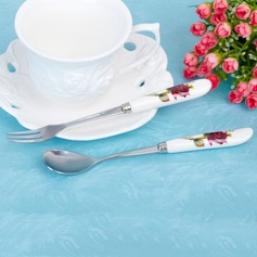 Bonito Rose Acero inoxidable Cuchara y Tenedor Set