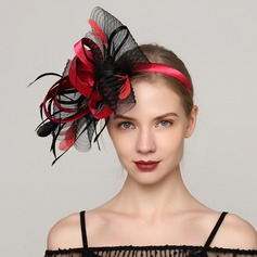 Ladies' Glamourous Cambric/Feather With Feather Fascinators