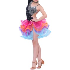 Enfants Tenue de danse Polyester Danse latine Robes
