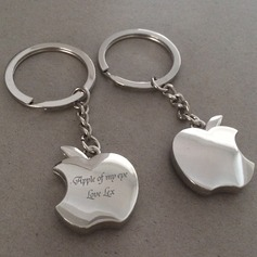 Personalized Apple Stainless Steel/Zinc Alloy Keychains