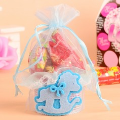 Cute Animal Basket Favor Bags With Ribbons