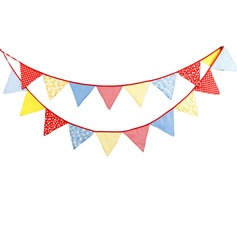 Triangle Bright Cloth/Cotton Photo Booth Props