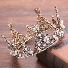 Ladies Elegant Rhinestone/Alloy/Imitation Pearls Tiaras With Rhinestone/Venetian Pearl (Sold in single piece)