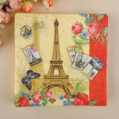 Eiffel Tower Design Dinner Napkins