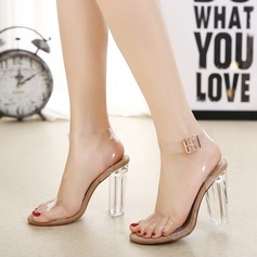 Women's Stiletto Heel Sandals Pumps Peep Toe With Jewelry Heel shoes