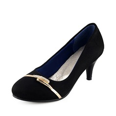 Suede Cone Heel Pumps With Chain shoes