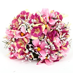 Nice Round Artificial Silk Bridal Bouquets -
